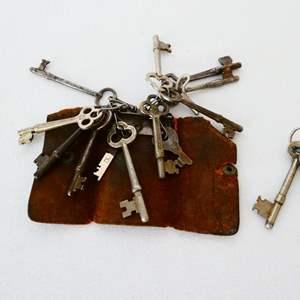 Lot # 19- Variety of vintage Skeleton keys