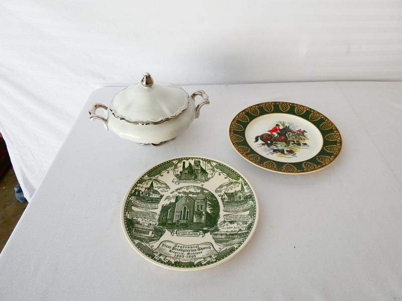"""Lot # 20-Collectors items: Mitterteich Bavarian China, """"Royal Patrician"""" fine bone China plate, and more (main image)"""