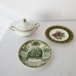 """Lot # 20-Collectors items: Mitterteich Bavarian China, """"Royal Patrician"""" fine bone China plate, and more"""