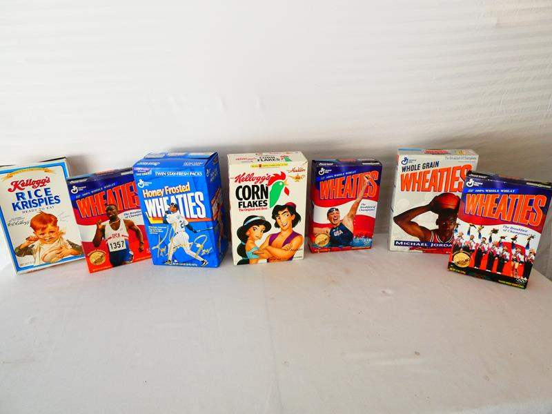 Lot # 21-Collectible vintage cereal boxes- Jordan, Griffey (Signed)- see pictures (main image)