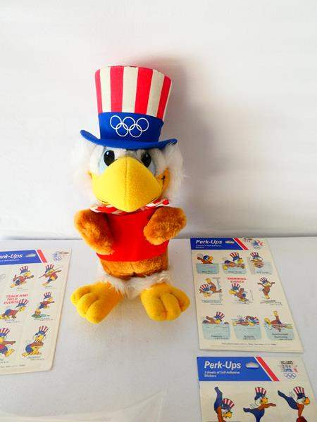 "Lot # 23-Collectible Olympic items: ""Sam the Eagle"", 1984 Summer Games, Los Angeles (main image)"