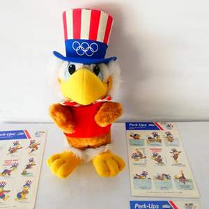 """Lot # 23-Collectible Olympic items: """"Sam the Eagle"""", 1984 Summer Games, Los Angeles"""