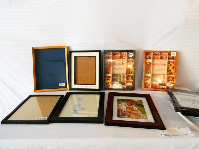 Lot # 39- Lots of picture frames- all sizes with shadow boxes- look at all pictures (main image)