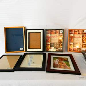 Lot # 39- Lots of picture frames- all sizes with shadow boxes- look at all pictures