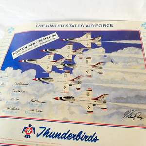 """Lot # 40- Collection prints: Two signed air force thunderbirds posters/ """"Winter St. Louis Creek"""": Dwight D. Eisenhower"""