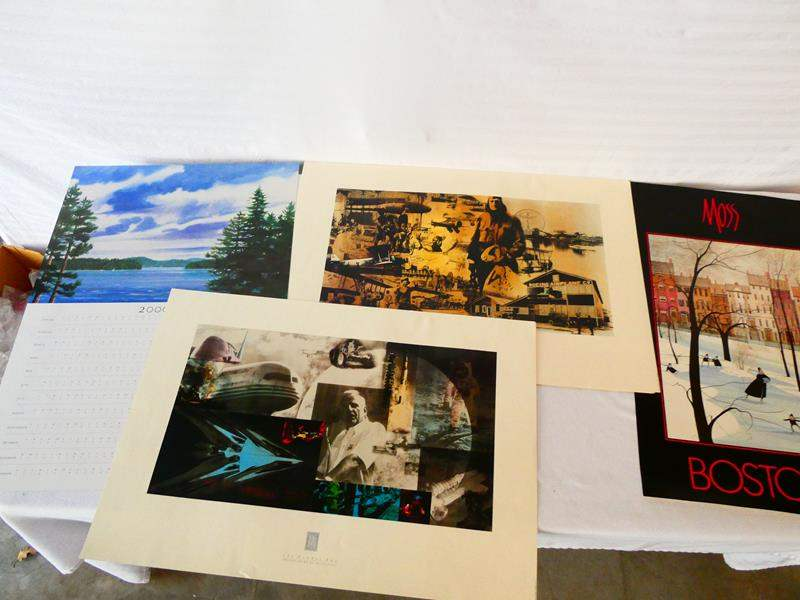 Lot # 41-Four prints: Boeing 75 years commemorative flying rate 1979, see all pics and details (main image)