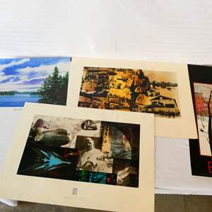 Lot # 41-Four prints: Boeing 75 years commemorative flying rate 1979, see all pics and details