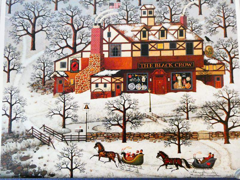 """Lot # 42-Charles Wysocki, limited edition, signed print, 79/ """"Evening sled ride"""" see details (main image)"""