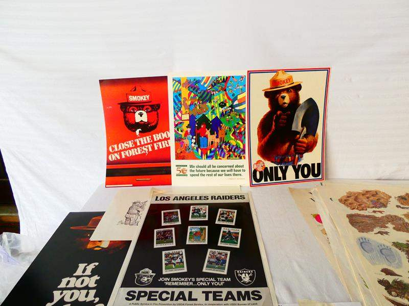 Lot # 44- US Forest service/ 24 collectable Smokey Bear posters, and more (main image)