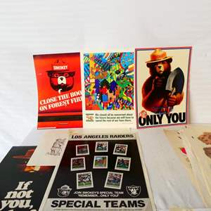 Lot # 44- US Forest service/ 24 collectable Smokey Bear posters, and more