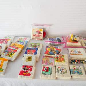 Lot # 26-Vintage collectable character napkins, some with toys- unopened