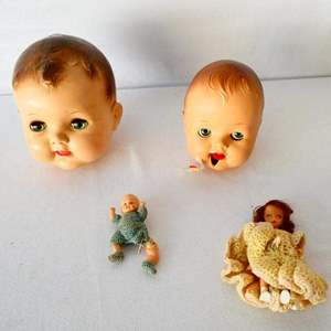 Lot # 28-Vintage, collectible large hard plastic doll head/ see all pictures