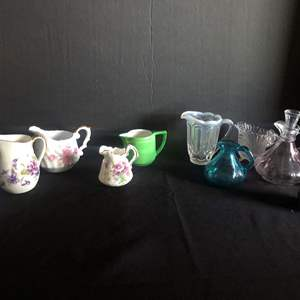"""Lot # 54- Small pitchers/ creamers: Vintage """"Monte Cristo"""" Quadruple silver plate (8 Troy ounces of silver) Early 1900 Bottom"""