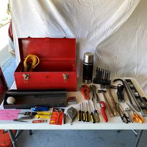 Lot # 152-Tool box with large varied tools