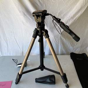 Lot # 154-Sony Tripod and Cosmoscope