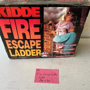 Lot # 158- 15 ft fire escape ladder