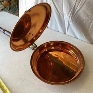 Lot # 160-Antique brass bed warmer
