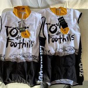 Lot # 170-2 Tour de Foothill biking jerseys
