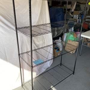 Lot # 171-Metal storage rack