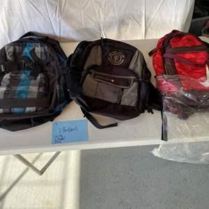 Lot # 172- 3 school type backpacks