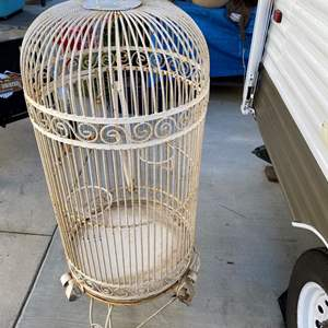 Lot # 175- Iron bird cage