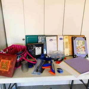 Lot # 191- Scrapbooking supplies and accessories/ Scrapbook albums
