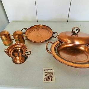 """Lot # 206- Gorgeous """"Gregorian"""", solid copper collection, made in USA"""