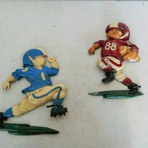 Lot # 212- Vintage 1976 Metal football Homco wall hanging décor