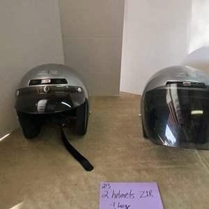 Lot # 213- 2 helmets Z1R: 1 Large, 1 Medium
