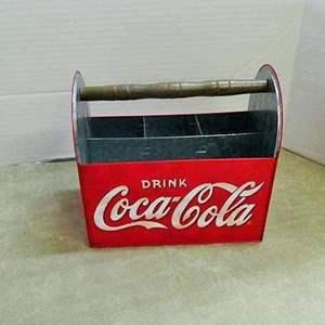 Lot # 214- Vintage Coca Cola drink tote metal