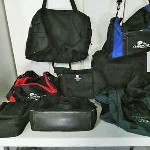 Lot # 219- 9 duffle bags- several varieties