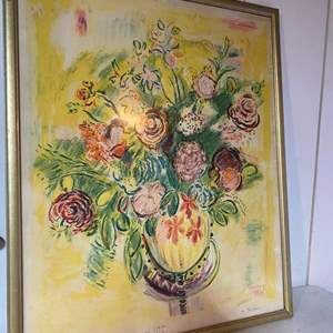 Lot # 235-Original lithograph AP14/ E. Wayne Ensrud with hand written note from author