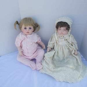 Lot # 258- Set of 2 Porcelain dolls