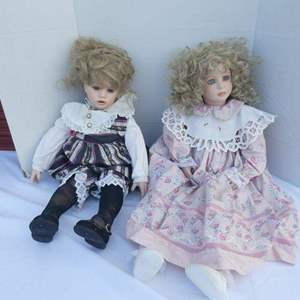 Lot # 260-Porcelain Dolls set of 2!