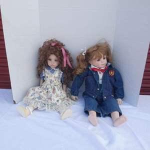 Lot # 261-Porcelain Dolls, set of 2! 1987 & 1992