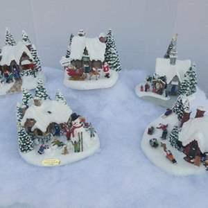 Lot # 269-Thomas Kinkade Christmas Village!