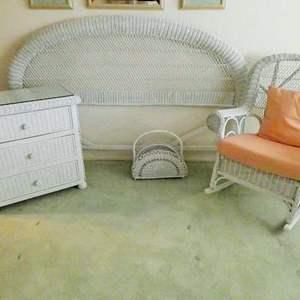 Lot # 41-King size WICKER furniture set!