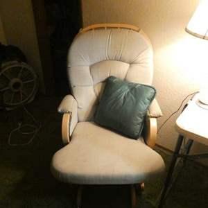 "Lot # 320-Wood rocking chair ""Shermag"" brand"