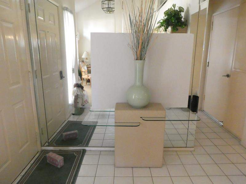 Lot # 1-Modern accent table with large vase and decor! (main image)