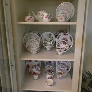 Lot # 18-Beautiful collection of FINE BONE CHINA Tea sets!