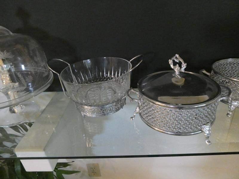 Lot # 19-Beautiful serving dish sets! *possible silver* (main image)
