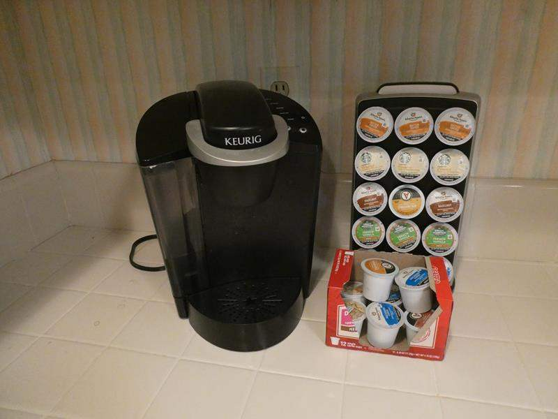 Lot # 26-KEURIG with K cups and K cup carousel! (main image)