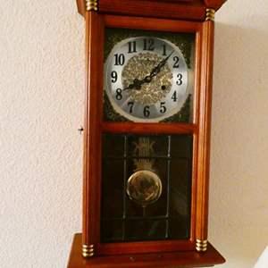 Lot # 217-Georgous wall clock- Key wind