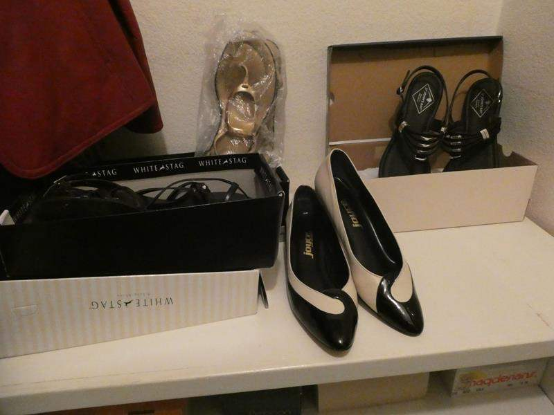Lot # 46-Ladies shoes! Size 9, LOTS and LOTS! (main image)