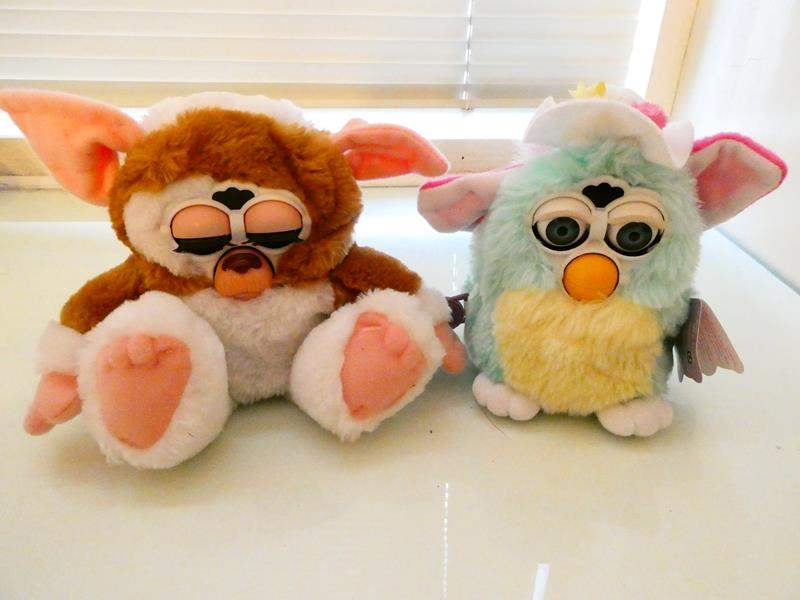 "Lot # 224- Two Furby's: Brown one is ""Gizmo"" Great condition (main image)"