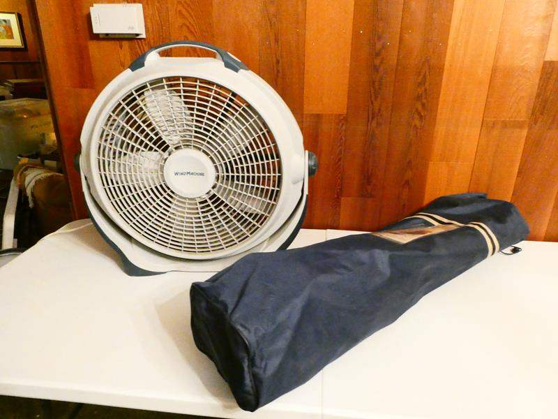 """Lot # 315-""""Wind machine fan"""" and over-sized camping chair (main image)"""