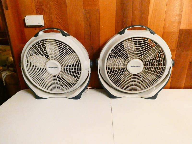 "Lot # 316- Two ""Wind machine"" Fans/ one looks brand new (main image)"