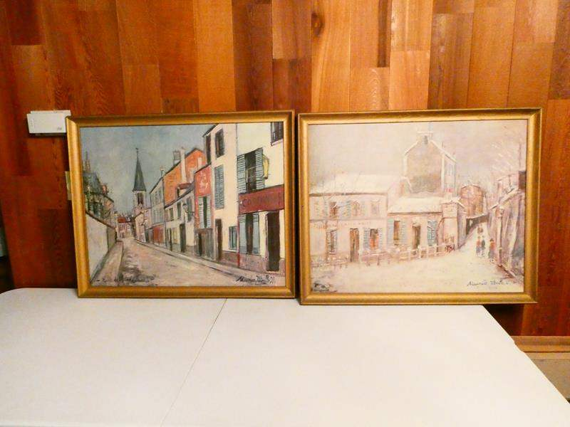 Lot # 319- Two Beautiful Maurice Utrillo prints/ paintings (main image)