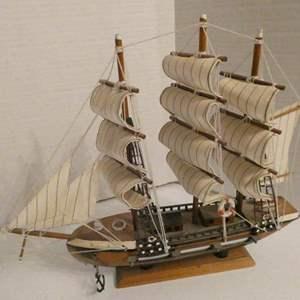 Lot # 3-Vintage wooden model ships (2)