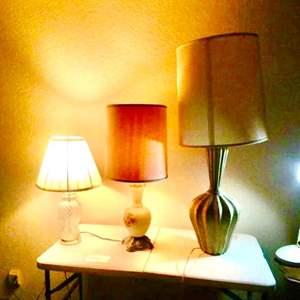 Lot # 6- Three stylish Lamps, plus reading lamp